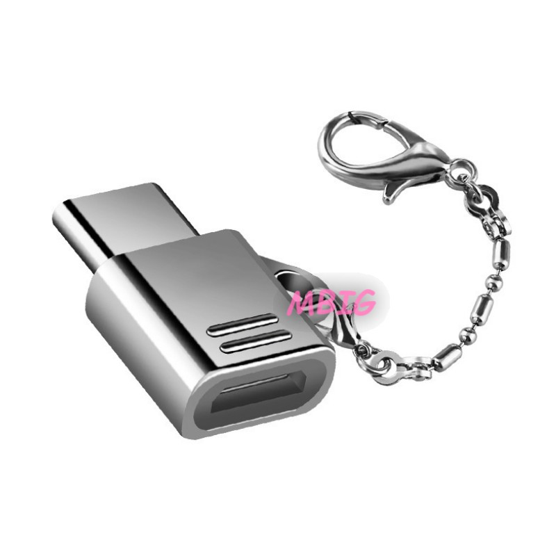 Type C Adapter Micro USB To USB-C Converter With Keychain Fast Charge&Transfer