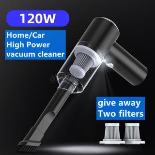 Home/car/handheld wireless vacuum cleaner High-power 120W vacuum cleaner Household/Car/Pet Hair Vacuum Cleaner