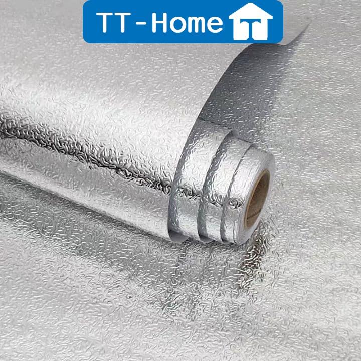 Giấy dán bếp cách nhiệt tráng nhôm chống thấm nước và bụi bẩn, giấy dán tường bếp cao cấp TT- HOME