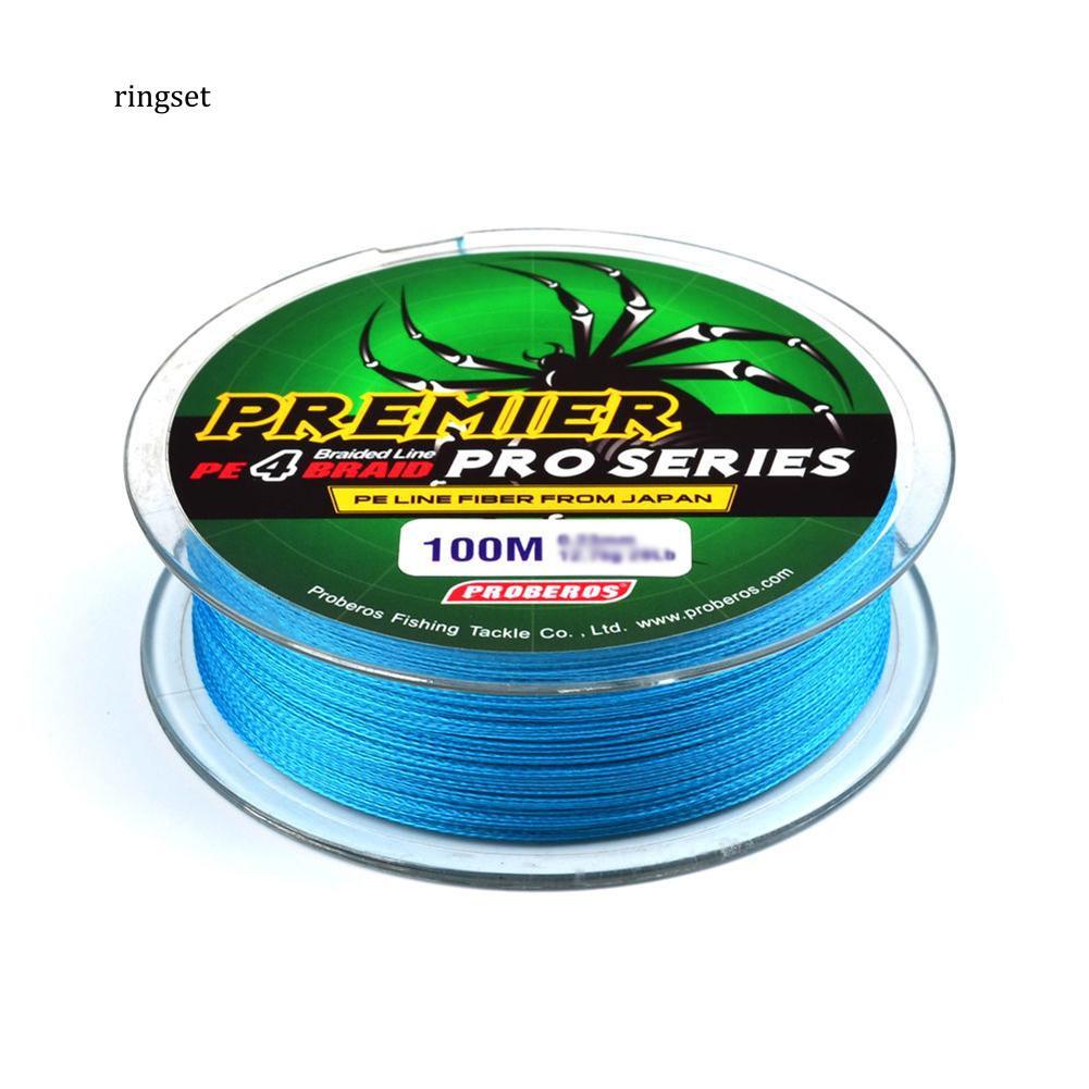 100M Army Green Super Strong Dyneema Spectra Braid Sea Fishing Line