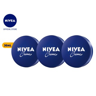 Bộ ba Kem dưỡng ẩm da NIVEA Crème 30ml/hũ – 80101