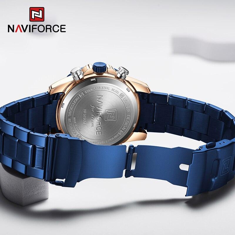 Đồng Hồ Kỹ Thuật Số NAVIFORCE NF9190 Mặt Phối Kim Cương Giả Hợp Thời Trang Thể Thao Cho Nam