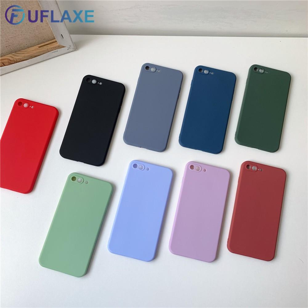 Ốp Điện Thoại Uflaxe Cho Apple iphone 6 6S 7 8 Plus SE 2020 Mềm Mại Màu Macaron Lỏng Chống Sốc Siêu Mỏng