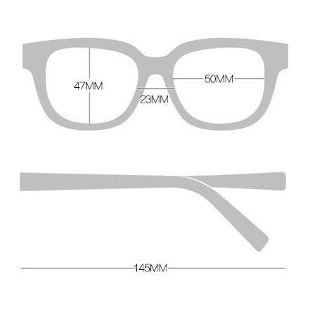 Gọng kính vuông WW 02 kính thời trang Unisex