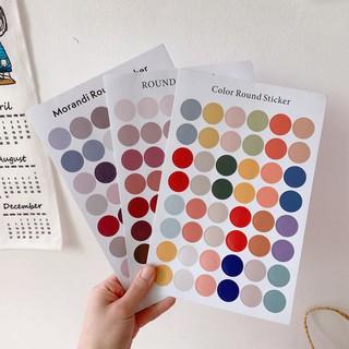 Sticker Dán Sổ Hình Tròn Morandi Palette Màu Trang Tri Decor Aesthetic thumbnail