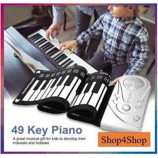 [CHÍNH HÃNG] Đàn Piano điện tử cuộn dẻo 49 phím dễ dàng mang theo – phân phối bởi Shop4shop