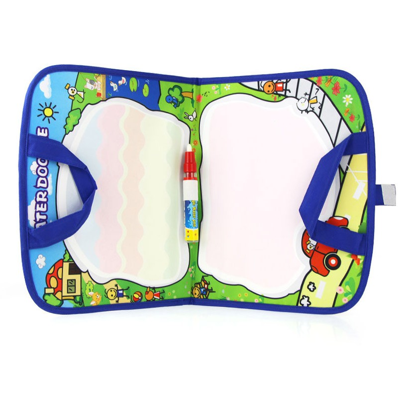 Kids Magic Water Canvas Blanket Write Draw Pen Handbag Doodle For Early Baby