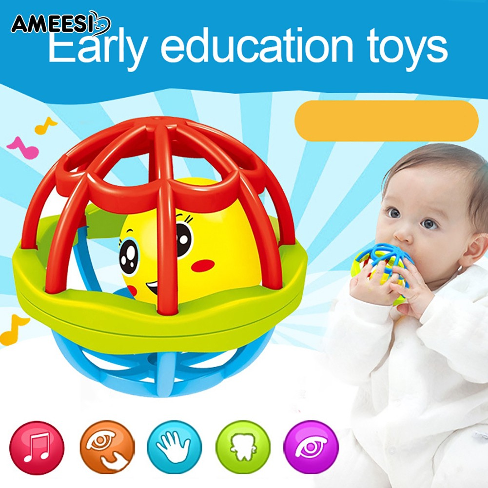 🔅🔆AMEESI  Baby Teether Toy Intelligence Gums Hand Bell Funny Gift