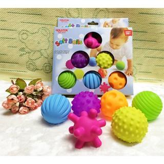 Bộ đồ chơi 6 quả cầu nhiều màu sắc cho bé