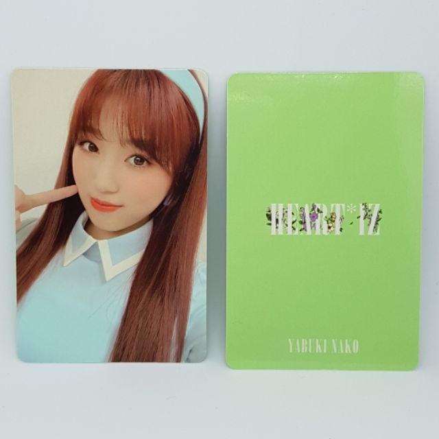IZ*ONE IZONE 2ND ALBUM HEART*IZ PHOTOCARD YABUKI NAKO - IZ