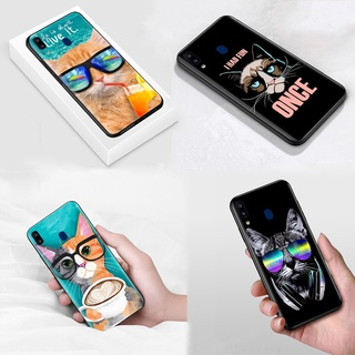 S-27 Cat with Glasses Soft Silicone Case Casing for Samsung Galaxy S21 S20 FE Note 20 Ultra Plus 8