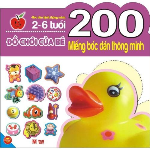 Sách - Đồ chơi của bé (200 Miếng bóc dán thông minh 2-6 tuổi)