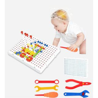 Children's early education spell inserted into the building blocks puzzle educational toys