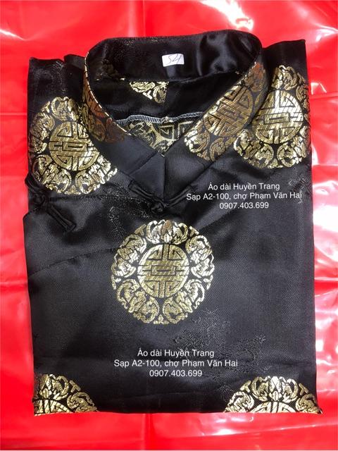 Áo dài đồng tiền khăn đóng - Áo dài nam