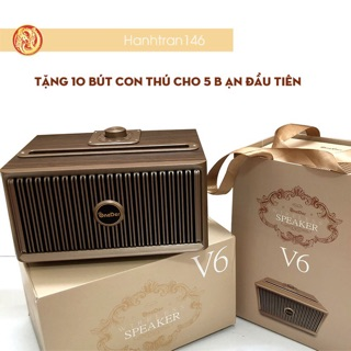 Loa Buetooth gỗ V6 [ chính hãng đổi 1-7 trong 7 ngày] - Loa nghe nhạc gỗ ONEDER V6 Cao Cấp