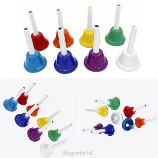 8pcs/set Musical Toy 8-Note Early Education Instrument RFID Blocking Hand Bell