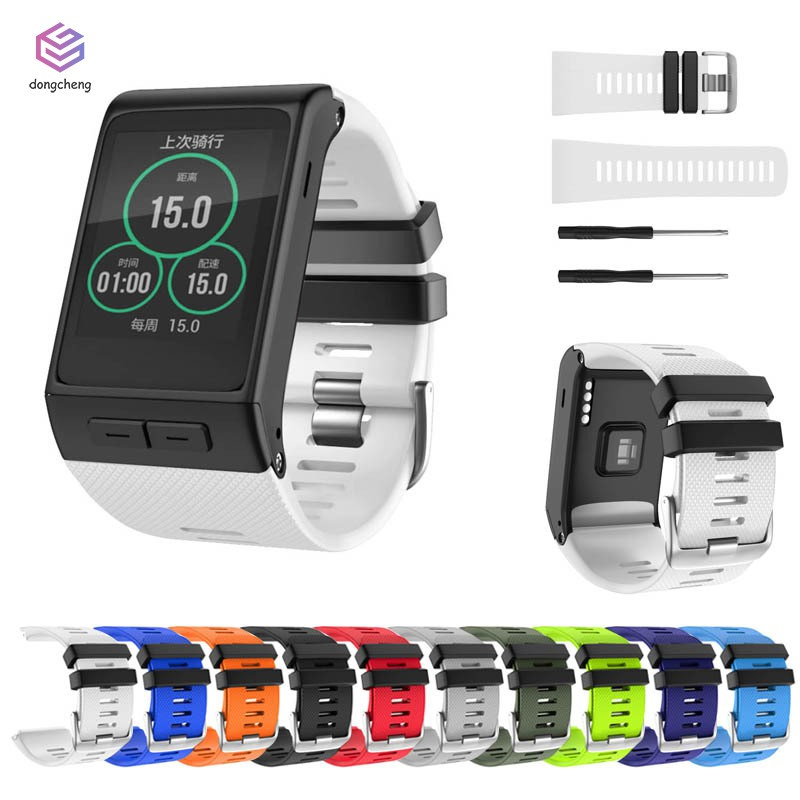 Watch Strap Silicone Band Watchband Stainless Steel Buckle for Garmin Vivoactive HR