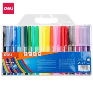 Hình ảnh Bút màu nước học sinh Deli, 1.0mm, 12 màu - 18 màu - 24 màu/hộp E37171-2