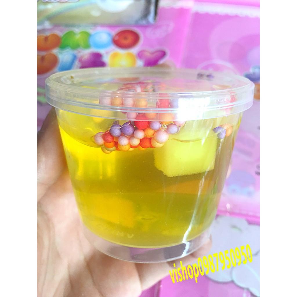đồ chơi slime -lọ chất nhờn mềm dẻo lọ có thạch xốp mã YFA0 F[Hot