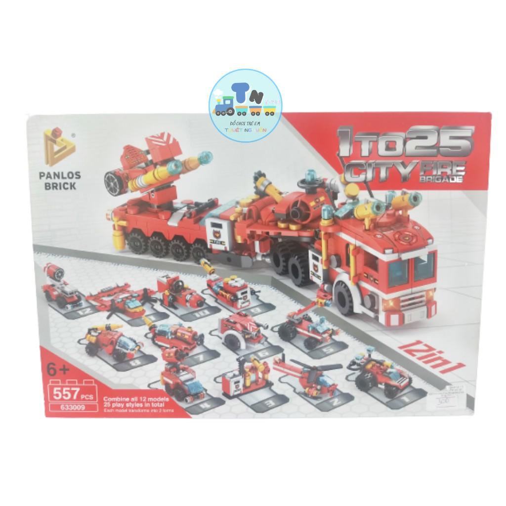LEGO CITY FIRE BRIGADE LẮP RÁP XE CỨU HỎA 12IN1 GỒM 557 CHI TIẾT