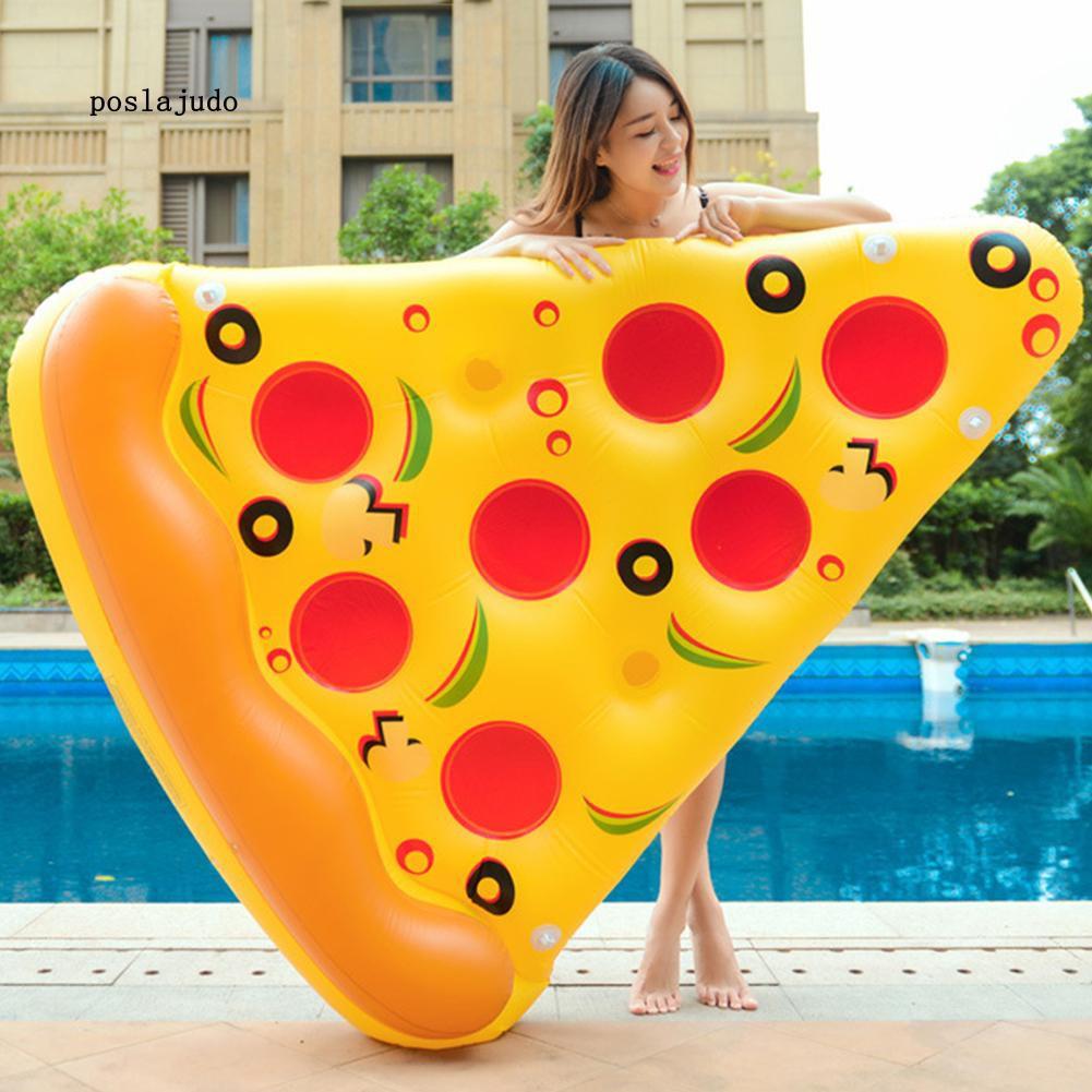 Phao PVC lớn hình miếng bánh pizza xinh xắn