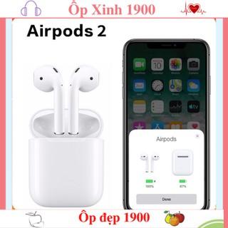 Tai nghe Bluetooth TWS Airpods 2  ( Tai nghe Airpod 2) Đổi Tên - Định Vị , Tự Động Kết Nối, Cảm Biến Vân Tay