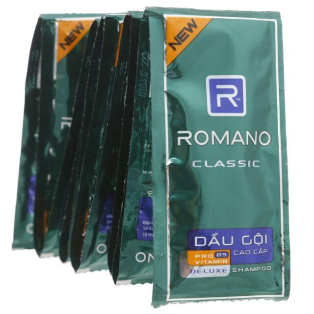 Dây 14 Gói Dầu Gội Romano Classic 5g.