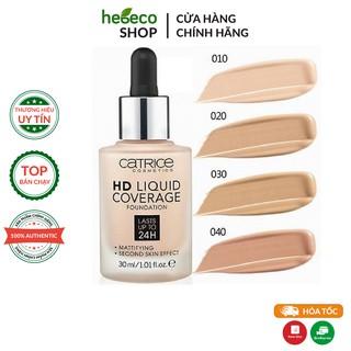 Kem Nền Che Khuyết Điểm Và Bảo Vệ Da Catrice HD Liquid Coverage Foundation màu 010 - Đức Chính Hãng thumbnail
