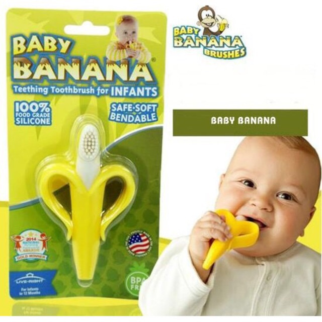 Gặm nướu chuối đa năng của Baby Banana Brush