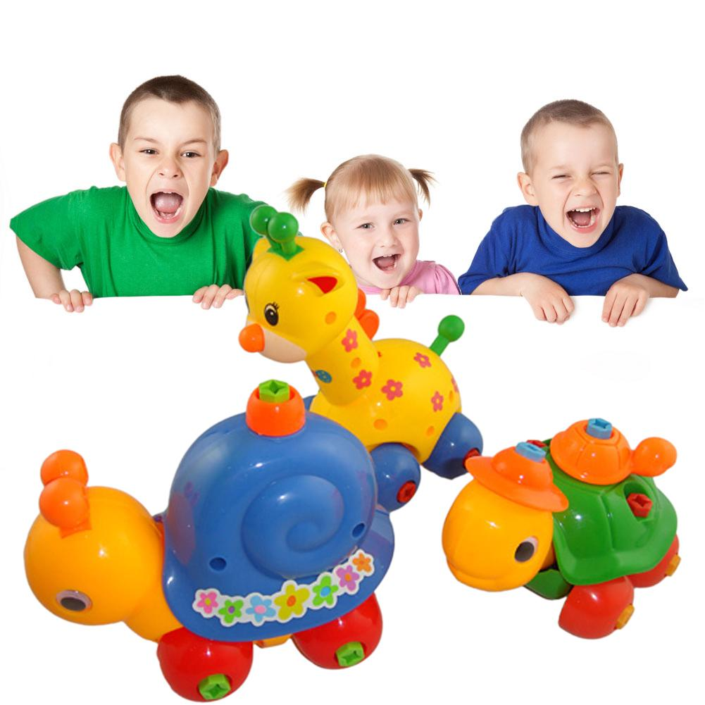 ♠♠♠Kids Animal Puzzle Educational Toys Kids Disassembly Assembly Cartoon Toy