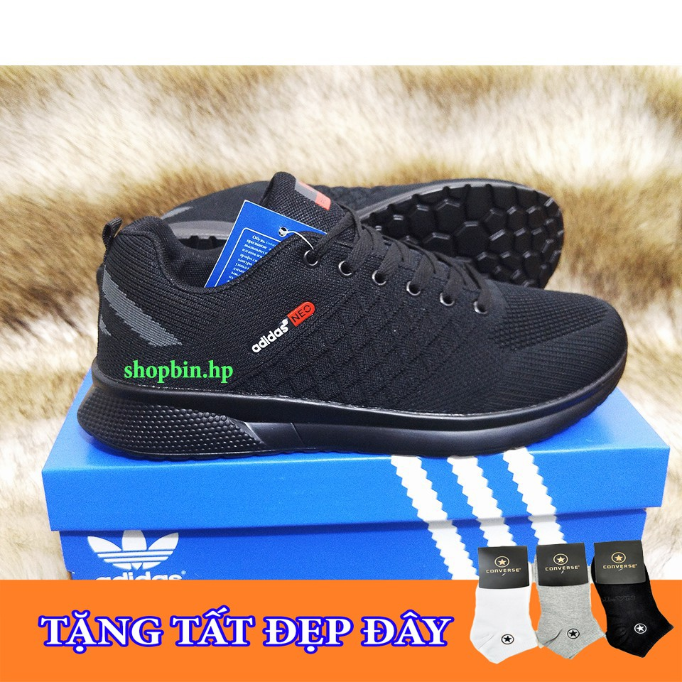 (SALE KỊCH SÀN) Giày nam full đen HÀNG CHẤT