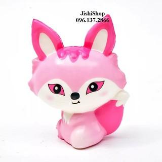 Squishy cáo hồ ly hồng cực đáng yêu- đồ chơi an toàn cho trẻ ben