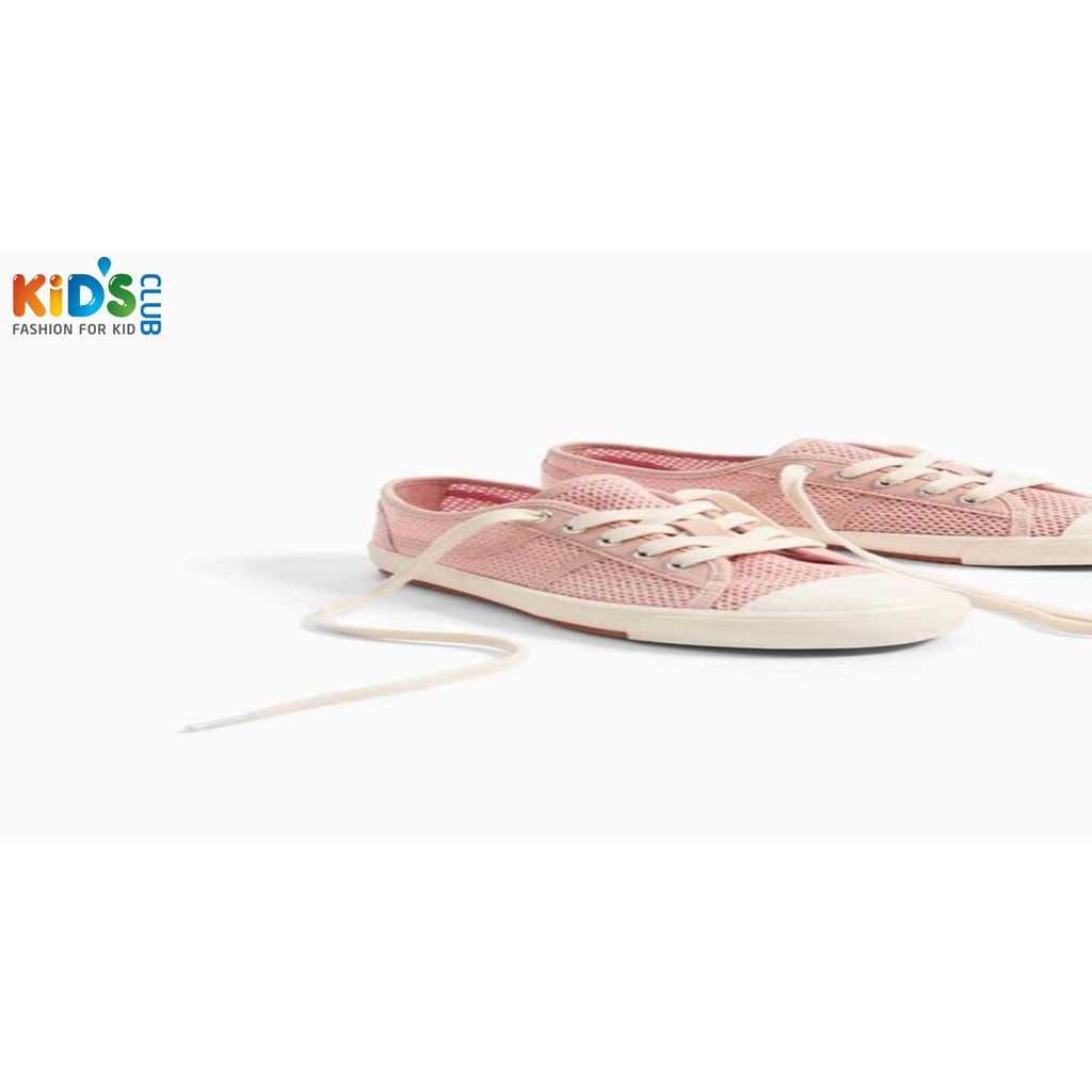 Giày bé gái lưới hồng