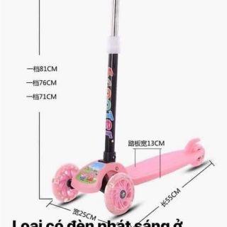 Xe trượt scooter 3 bánh phát sáng mẫu mới