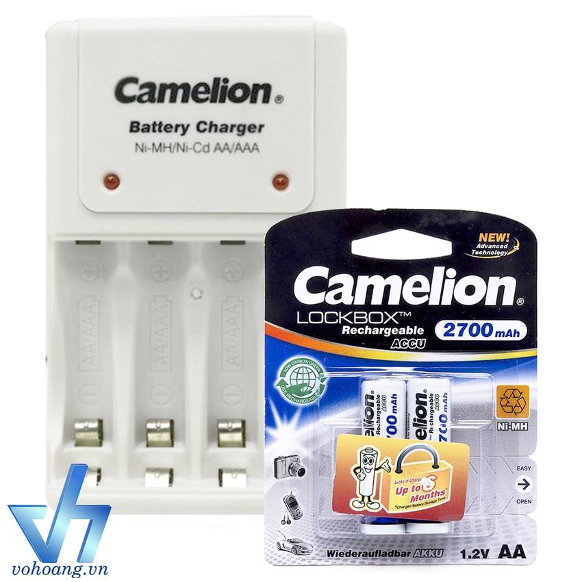 Bộ sạc pin 1010B kèm 2 pin AA Camelion 2700mAh - 2658130 , 117891634 , 322_117891634 , 219000 , Bo-sac-pin-1010B-kem-2-pin-AA-Camelion-2700mAh-322_117891634 , shopee.vn , Bộ sạc pin 1010B kèm 2 pin AA Camelion 2700mAh