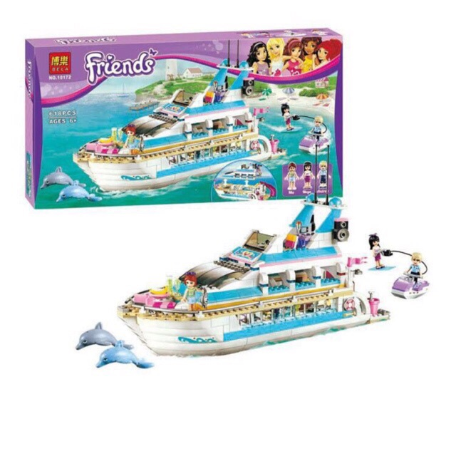 Lego friends 10172 - Du thuyền cá heo (Hãng Bela)