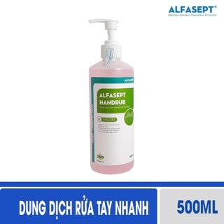 Thùng 12 chai dung dịch rửa tay khô Alfasept Handrub 500ml thumbnail