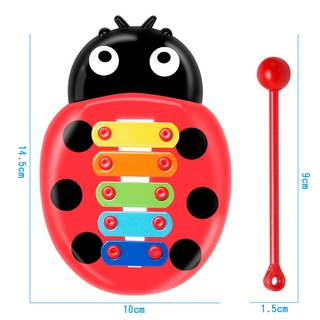Baby Puzzle Insect Hand Knock On Piano Early Education Instrument Toy