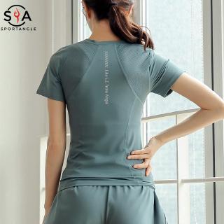 [Mã FASHIONG30 hoàn 15% tối đa 30K xu đơn 150K] Áo thun ngắn tay tập Yoga nhanh khô cho nữ
