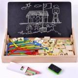 Bảng gỗ 2 mặt có que tính và số đếm giúp dạy bé học toán BG-1915   HÀNG THẬT