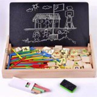 Bảng gỗ 2 mặt có que tính và số đếm giúp dạy bé học toán BG-1915 | HÀNG THẬT