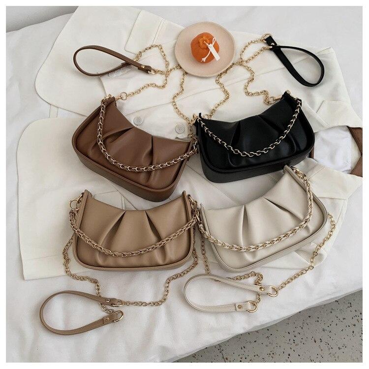 Túi đeo vai JASMIN NOIR chất liệu da PU phong cách vintage hợp thời trang