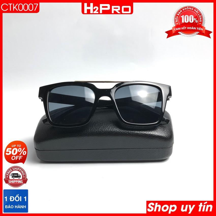 Kính thời trang nam, nữ đi biển giá rẻ H2PRO CTK0007, kính mắt chống tia UV, dịu mắt