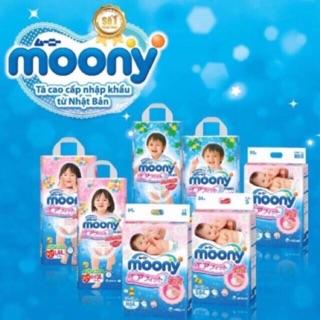 Tã dán quần Moony size Nb90 S84 M64 L54-M58 L44 XL38 XXL26