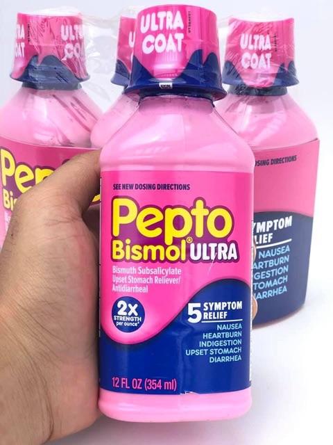Sirô hỗ trợ điều trị tiêu hoá dạ dày Pepto Bismol Ultra 354ml
