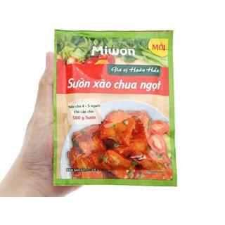 Gia vị hoàn hảo sườn xào chua ngọt Miwon gói 28g