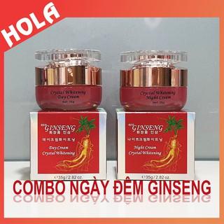 [CHÍNH HÃNG] COMBO ngày đêm Red Ginseng Hồng Sâm, làm mờ nám, tàn nhang và dưỡng trắng da, kem sâm, mỹ phẩm Ginseng thumbnail