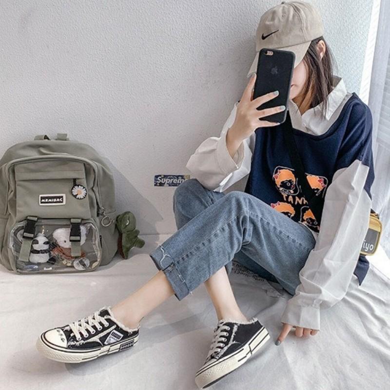 Giày Sục Nữ DVT35 Baotou Hàng Quảng Châu Cao Cấp New
