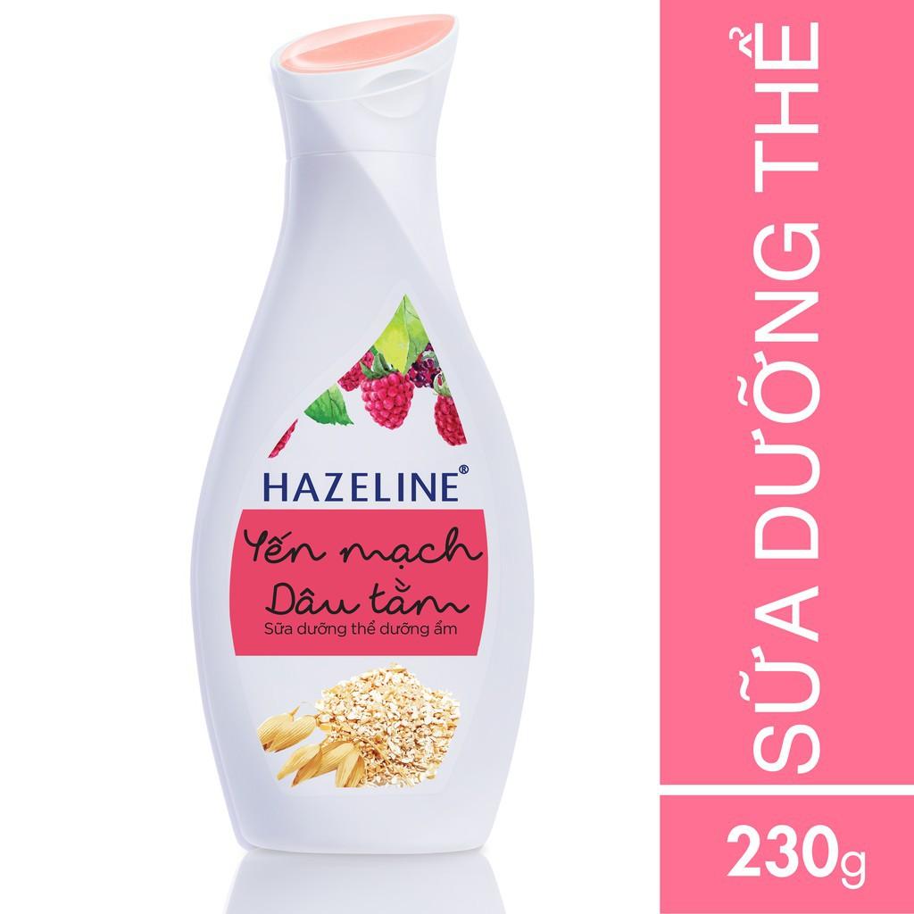 Sữa dưỡng thể Hazeline dưỡng dưỡng ẩm Yến Mạch-Dâu Tằm 230 ml