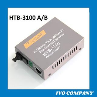 Thiết Bị Chuyển Đổi Quang Điện 1 Sợi Media Converter 1FO 1Q 1LAN 100Mbps Netlink HTB-3100AB